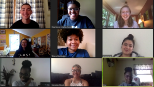 Image of the 2020 Interns participating in a virtual session on Zoom